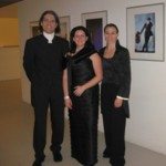 With Eva-Maria Schlander and Laura Pérez Soria after a concert at the Auditorio Baluarte, Pamplona, 2011
